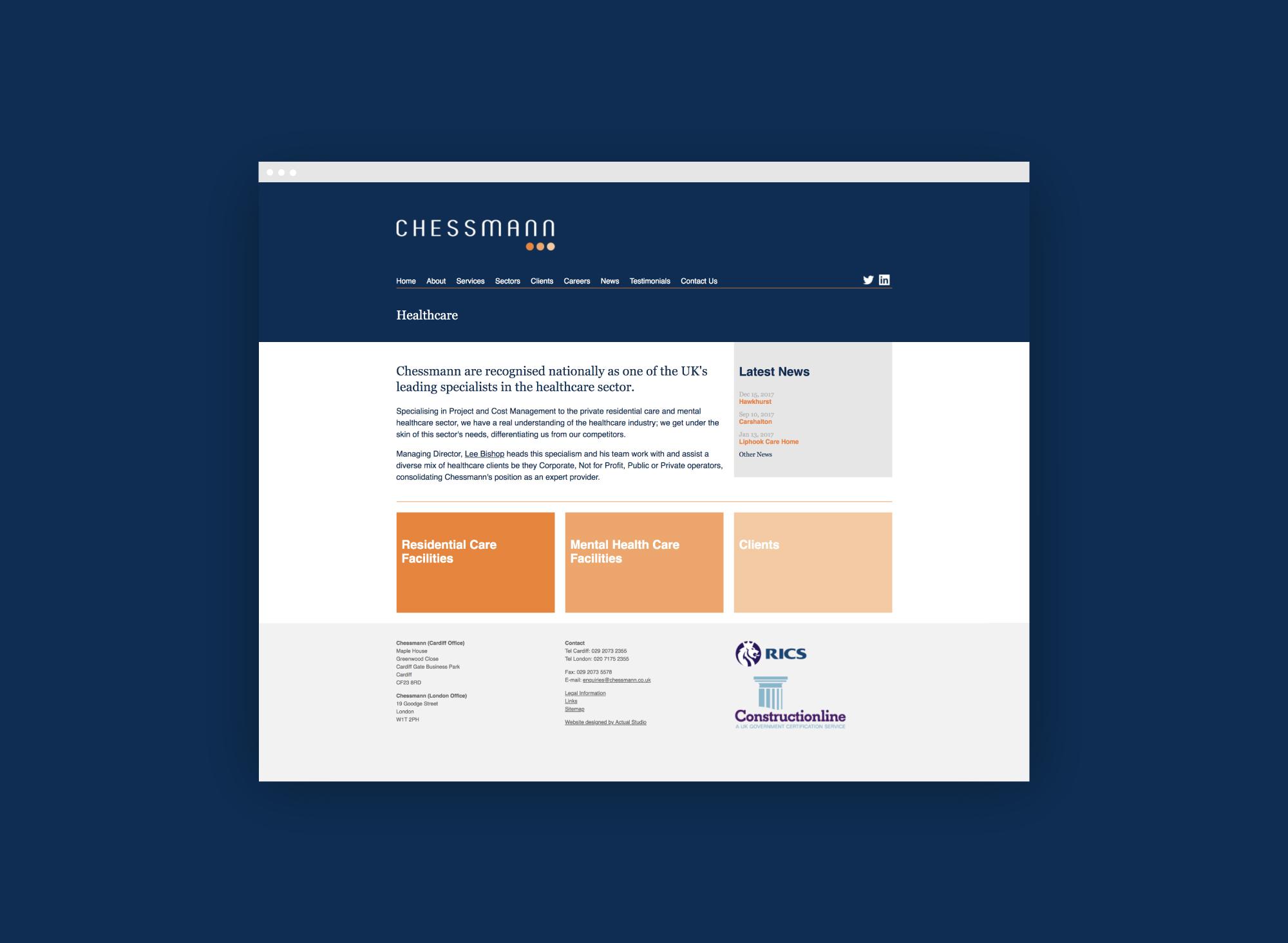 Web design for Chessmann