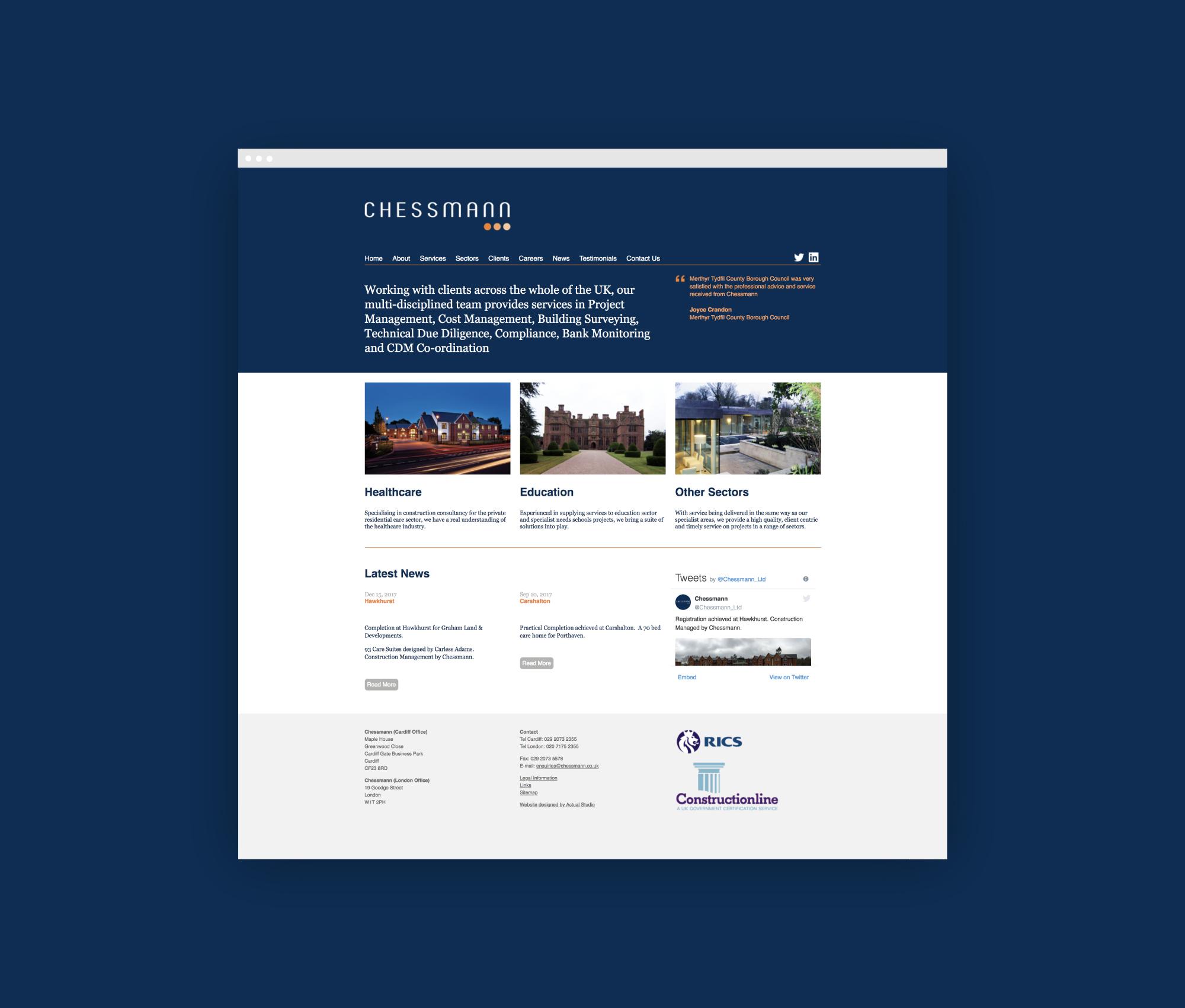 Website design for Chessmann