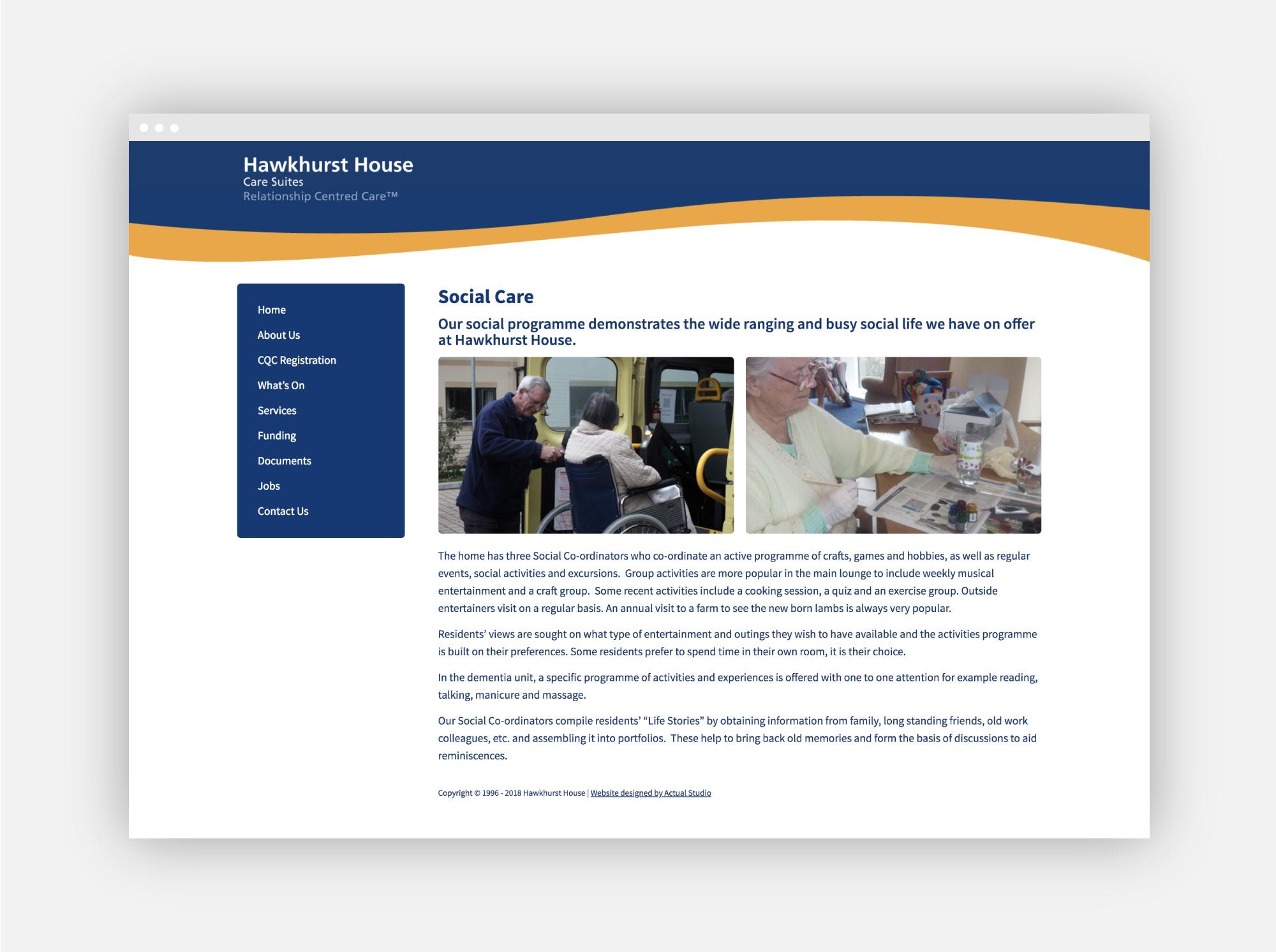 Web design for Graham Care