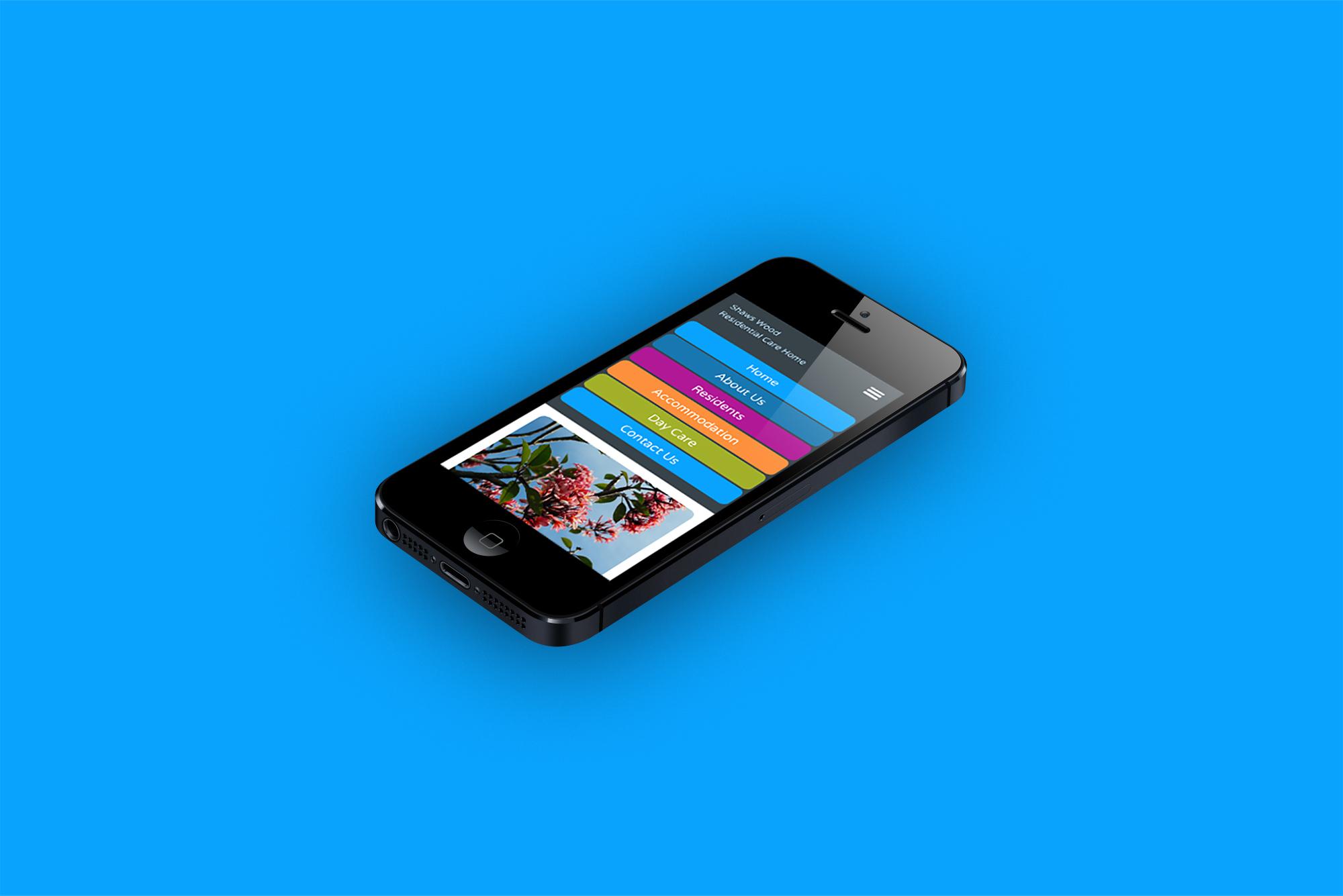 Care Home Website Design on mobile