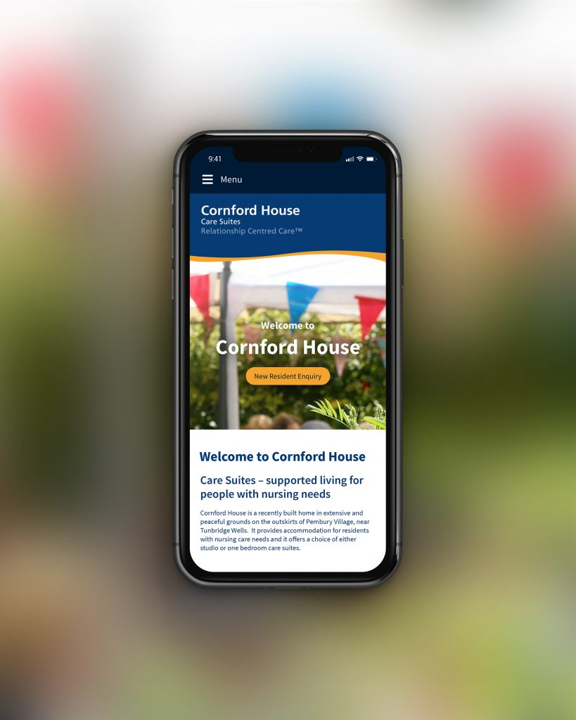 Mobile website for care home