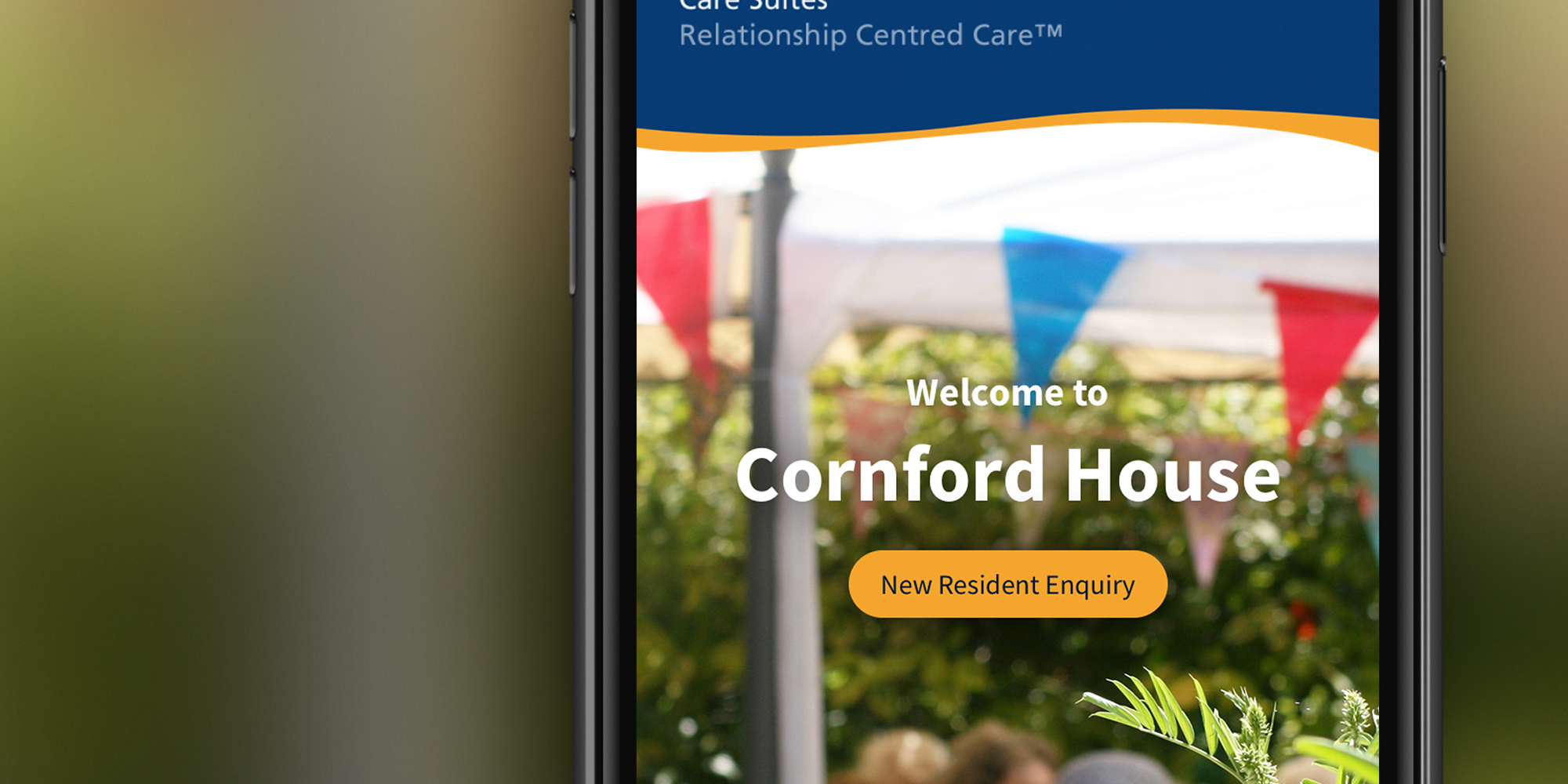 Call to Action detail on care home website