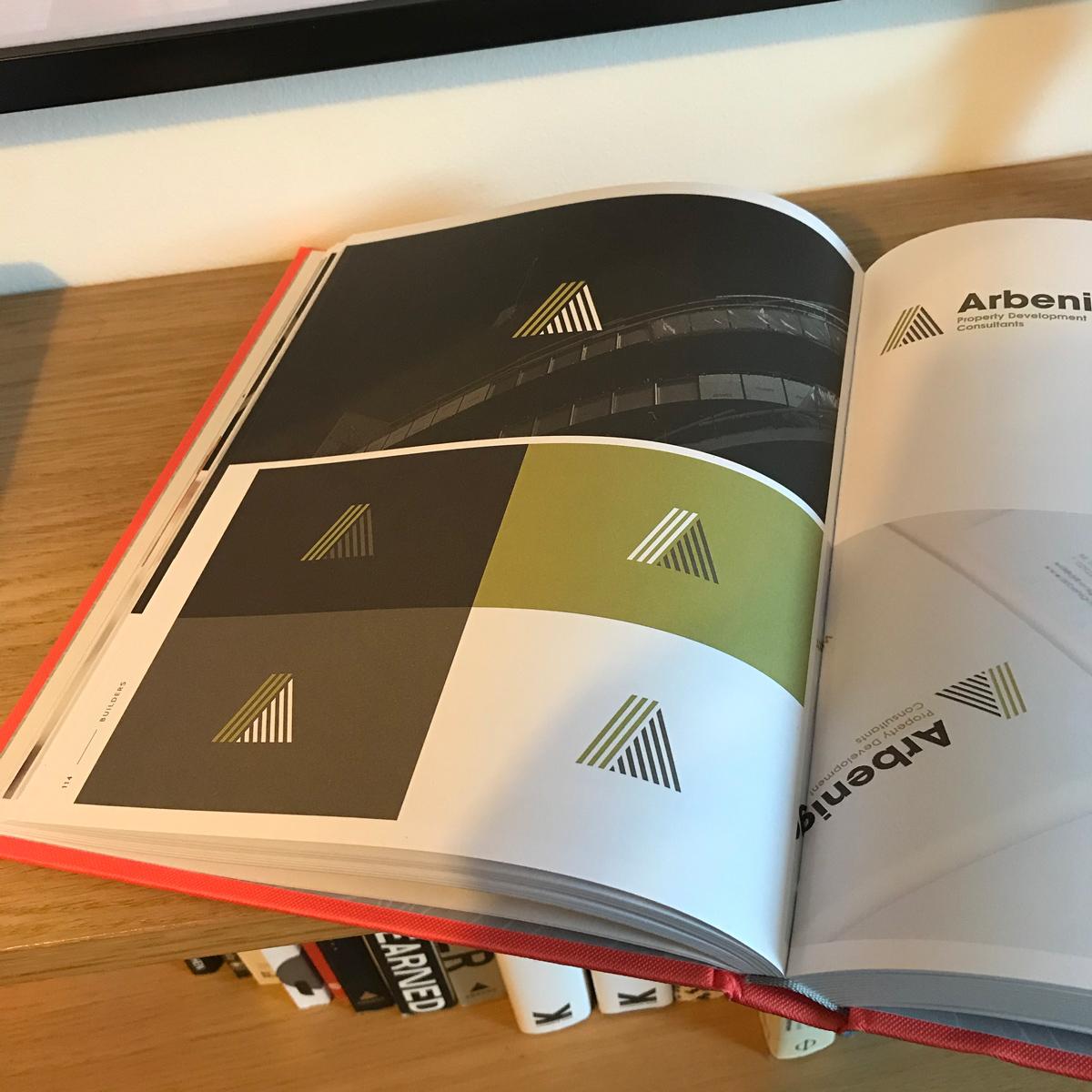 Branding work featured in Brand Built book