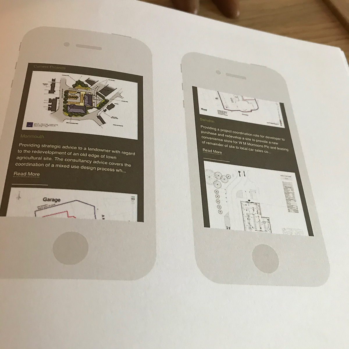 Our web design work featured in a construction design book