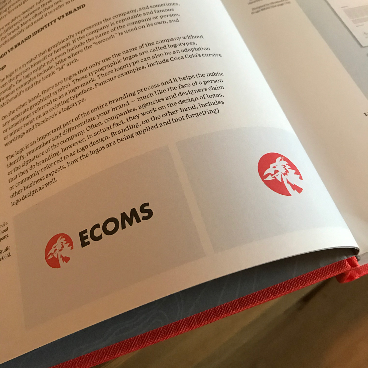 Construction logo design featured in a book