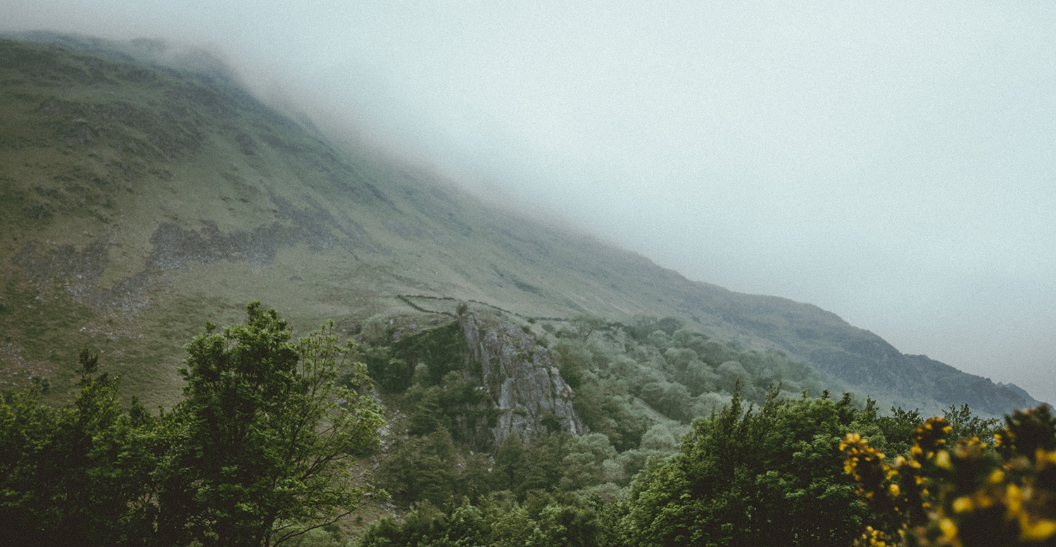 Rainy Welsh mountains